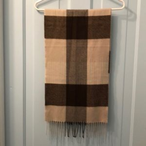 Other - Cashmere scarf in tan and brown NWOT